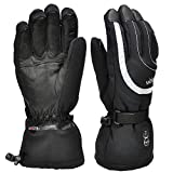 Heated Gloves Men Women,Electric Rechargeable Battery Heated Gloves 7.4V 2200mAh,Heated Ski Snow Motorcycle Gloves Mittens for Arthritis Bikers,Winter Outdoor Sports Battery Gloves Hand Warmers