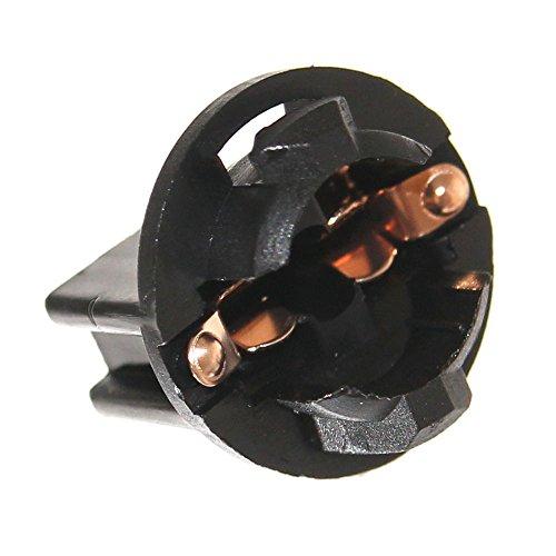 12x T10 Fassung für Flipper W5W Glassockel Automaten W2,1x9,5d Lampenfassung GE555 GE159 194 Neu Beleuchtung 6,3V 12V Joy-Button