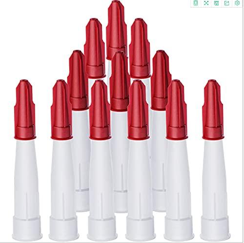 VICSPORT Juego de tapas para boquillas de calafateo boquillas de repuesto para cartuchos de masilla reutilizables, herramienta selladora (12 juegos)