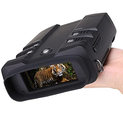 GAOword Digital Night Vision Binoculars 1080P Full HD 1640FT Excelente Rango Visual 5W infrarrojo para la Caza y el Camping, Equipado con la Tarjeta SD de 64GB