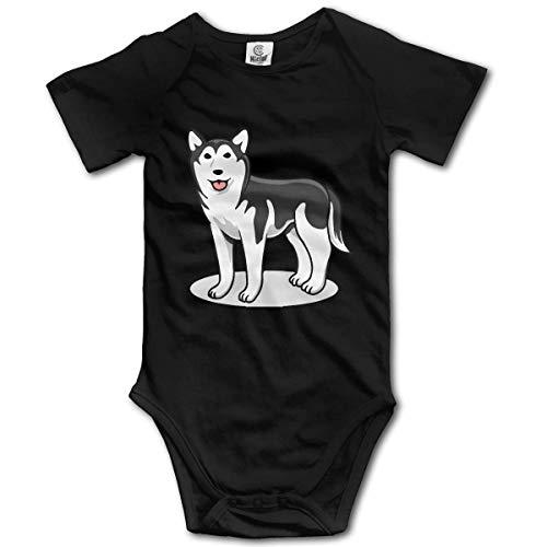 Mono para bebé recién nacido con perro Husky siberiano, mono de manga corta para bebé