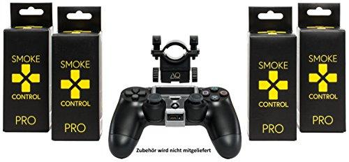 AO® Smoke Control Pro - Shisha Mundstück für PS4 Controller - Perfektes Shisha Zubehör Für Gamer - Optimaler Halt & Einfache Installation - Schwarz