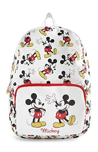 Disney - Mochila de Piel sintética con diseño de Mickey Mouse y Minnie Mouse