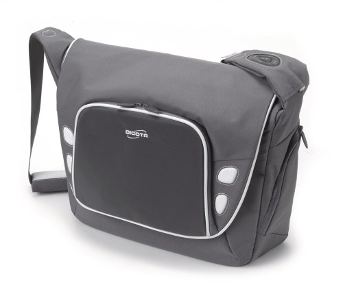 Take.Control Notebook-Messengerbag mit integrierte iPod-Steuerung für Notebooks bis 33,8 cm (13,3 Zoll) grau