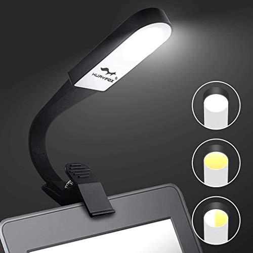 LED de luz de la noche USB recargable de lectura, de madera clara libro, clip en el libro de la luz for leer en la cama, Protección de los ojos portátil de libros electrónicos de la lámpara ajustable