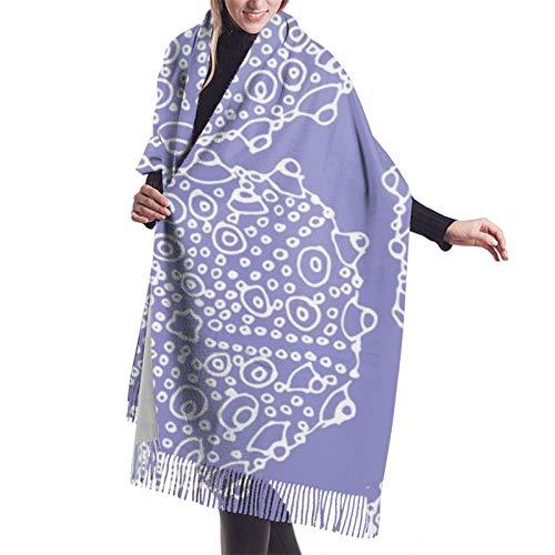 Damen Herbst Winter Schal bumpy Seeigel in lila Meer Glas klassischer Schal warm weich groß Decke Wrap Schal