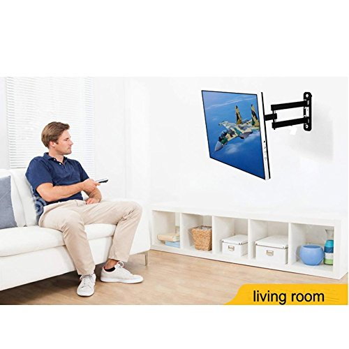 Support Mural Lumsing Full Motion avec Bras articulé pivotant et inclinable pour téléviseur 22