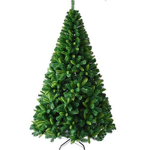 QPALZM Árbol De Navidad Artificial: Hoja Mixta Cifrada De Lujo, Material De PVC, árbol De Navidad Cifrado, Ramas Naturales Realistas Clásicas, Interior, Escuela, Decoración De Oficina(Size:240cm)