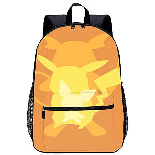 YJBZDMG Todo tipo de exquisito patrón impreso en 3D mochila Oxford tela 45x31x14cm animación japonesa Pikachu Es un producto muy adecuado para regalos.