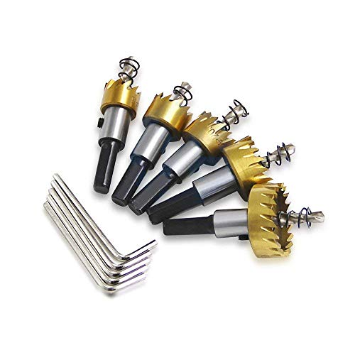 ZHITING Coronas Perforadoras Juego de 5PCS Sierras de Corona 16-30 mm HSS para Metal...