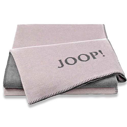 Joop! Wohndecke Melange - Doubleface Baumwollmischung Rose/grau Größe 150x200 cm