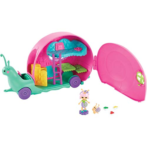 Enchantimals Slow-mo Camper Vehicle Playset with Saxon Snail Doll
