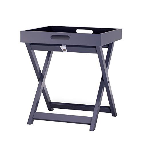 ZHAOYONGLI Table D'appoint Basse Tables Basses Café Informatique Table Salon Canapé Table D'appoint Table Table De Lit Petite Table Carrée Côté (Couleur : Gray, Taille : 40 * 40 * 46cm)