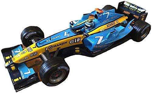 Model auto's uit Druk Hotwheels Authentic 01:18 Formula F1 Racing Alloy Auto Model jongen/meisje gift (Kleur: Blauw, Maat: 23cm * 9cm * 4 cm) lili (Color : Blue, Size : 23CM*9CM*4CM)