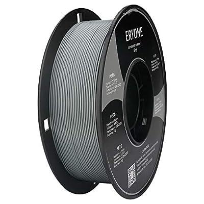 Filament PETG 1.75mm PETG Gray, Grey PETG Filament,ERYONE PETG Filament for 3D Printer, 1KG, 1 Spool (Grey)