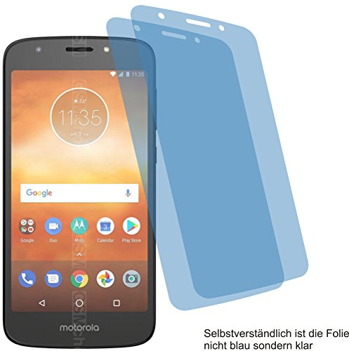 4ProTec I 2X Crystal Clear klar Schutzfolie für Motorola Moto E5 Play Bildschirmschutzfolie Displayschutzfolie Schutzhülle Bildschirmschutz Bildschirmfolie Folie