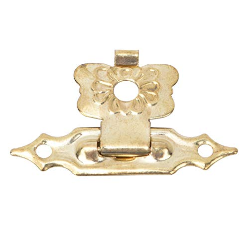 Eurobuy Box Latch, 50 Pcs Hasp Latch Retro Style Flower Type Yellow Iron Toggle Latch for Jewelry Wooden Case Boxes Suitcase