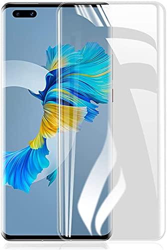 ONICO 2 Stück Bildschirm Schutzfolie für Huawei Mate 40 Pro/Pro Plus,TPU Selbstheilend Anti-Bläschen 3D-Gebogenen Volle Bedeckung Folie kompatibel mit Huawei Mate 40 Pro/Pro Plus