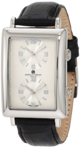 Charles-Hubert, Paris Men's 3854-W Premium Collection Stainless Steel Dual-Time Watch