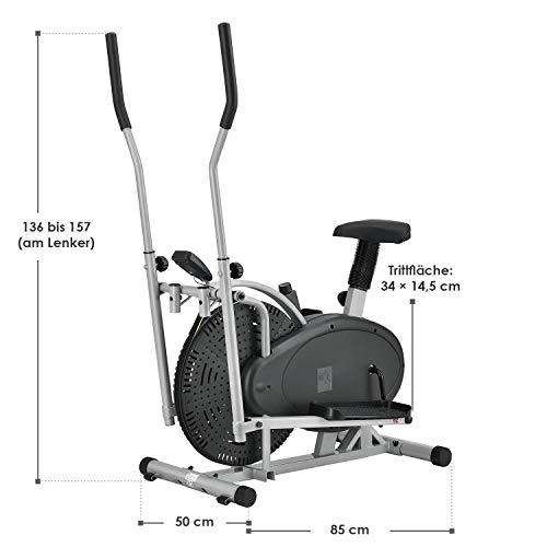 ArtSport 2in1 Crosstrainer & Heimtrainer leiser Ellipsentrainer Ergometer - 2