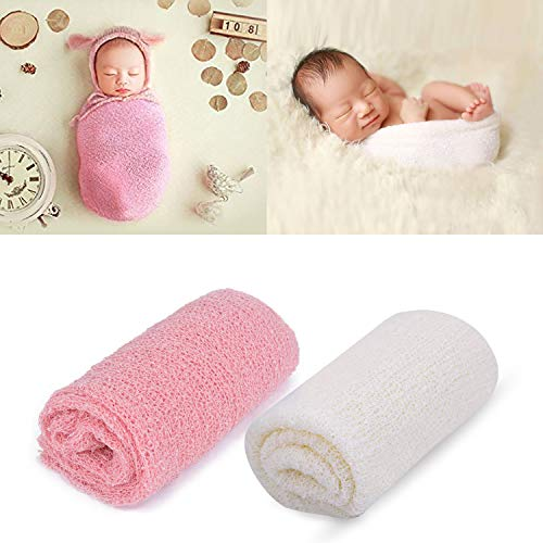 Outgeek Newborn Baby Photography Props 2 Pcs Long Ripple Wrap Newborn Props Baby Photo Props DIY Newborn Photography Wrap