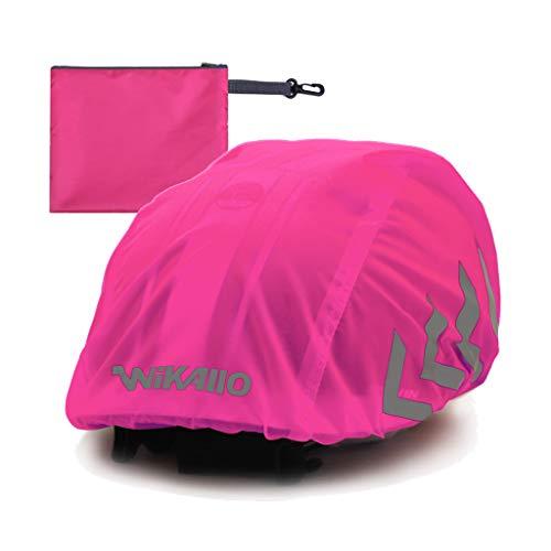 WIKALLO® Funda impermeable para casco de bicicleta, reflectores, impermeable, para bicicleta, unisex,...