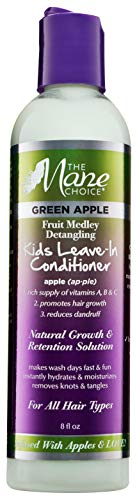 THE MANE CHOICE Green Apple Fruit Medley Detangling KIDS Leave-In Conditioner - Hair Treatment To Moisturize and Nourish Your Hair (8 Ounces / 236 Milliliters)
