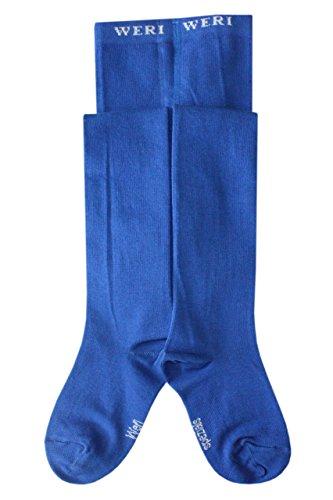 Weri Spezials Baby- und Kinderstrumpfhose für Jungen und Mädchen Uni Glatt in verschiedenen modernen Farben. (110/116, Royalblau)