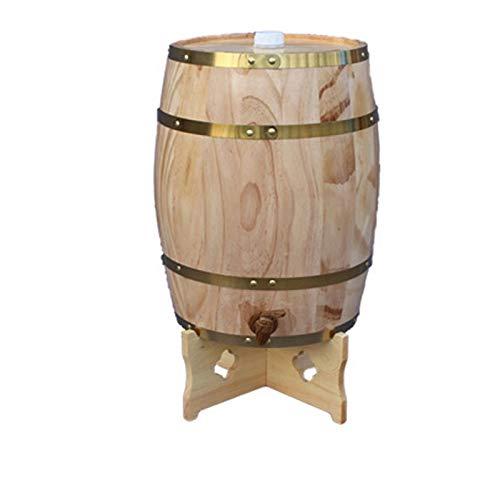 Yimihua Barril de Vino Vino Barril de Roble de Almacenamiento Cubo, Whisky Barril de Madera Dispensador de Agua del Grifo, Adecuado for la decoración Bares u hogares, for Matrimonio