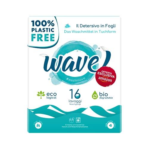 Wave Washing Classic - Das Waschmittel in Blättern - 100% plastic free - 16 Waschgänge - umweltfreundlich - biologisch abbaubar - kompostierbar