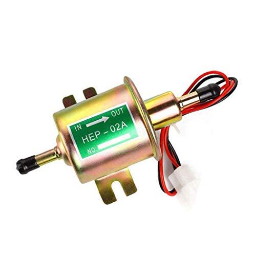 Runfun Kraftstoffpumpe Für Elektronische Kraftstoffförderpumpe 12v Inline Universal Pumpe Metall Hep-02a Für Vergasermotor Multifunktionspumpe
