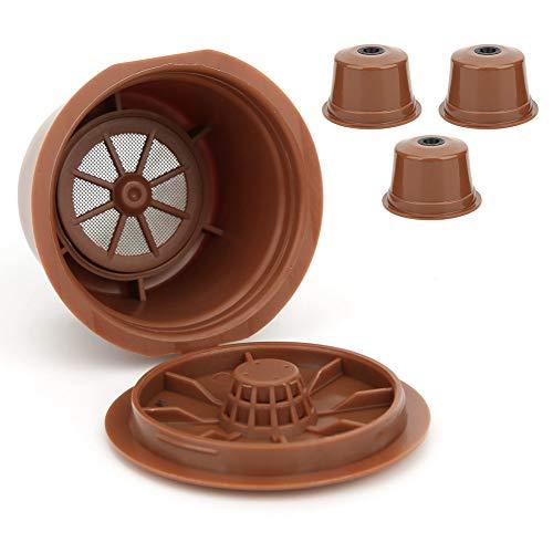 3 uds taza de filtro de cápsula de café recargable reutilizable accesorios de repuesto de filtro de café reutilizables aptos para Caffitaly Hogar Cocina Oficina al aire libre