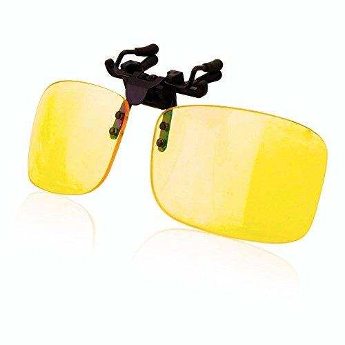 UV Brillen Clip-on Schutzbrille, Blaufilterbrille Anti Blaulicht Eyewear for PC, Smartphone, Computer Lesebrillen- Gelbe Linsen Goggles