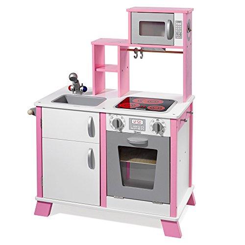 Howa Spielküche/Kinderküche Chefkoch aus Holz mit LED-Kochfeld 48204