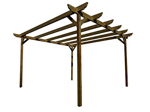 Corbel Wooden Garden Pergola Kit - Exclusive Pergola Range - Largest on Amazon (3.6m x 4.2m 4 posts, Rustic Brown)