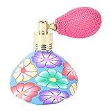 Lurrose Atomizador de perfume de 1 pieza Flores vintage Conveniente Cerámica suave Recargable Perfume vacío Atomizador de botella de viaje para viajar a casa (Aleatorio)