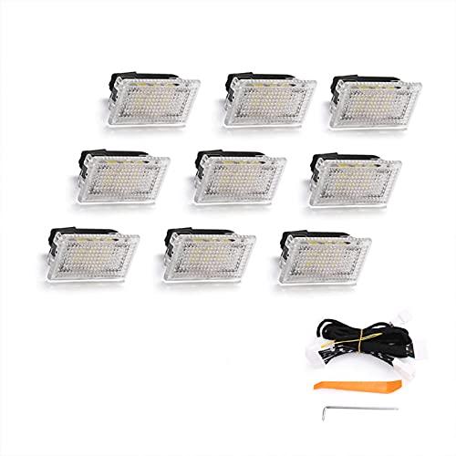 PACEWALKER para Tesla Model 3 / Model S / Model X Accesorios, LED de iluminación interior súper brillante, kit de montaje de luz, accesorios de herramientas de inclinación (9 piezas)