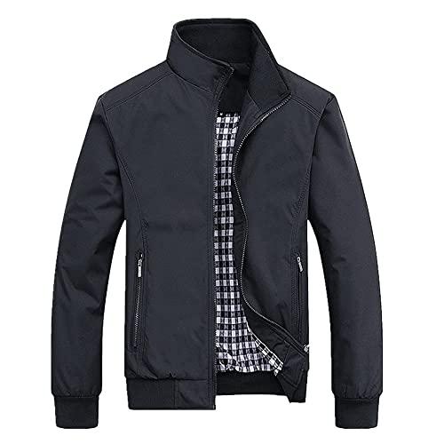 Chaqueta de primavera y verano con cremallera para hombre Streetwear Hip Hop Slim Fit Pilot Coat
