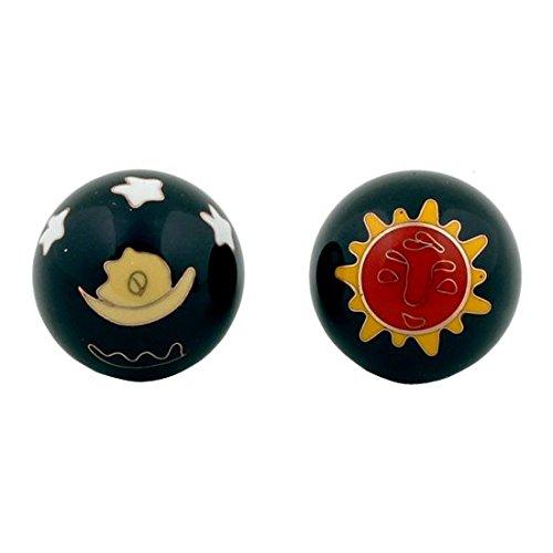 Raum der Stille Qi Gong Kugeln 3,5cm mit Aufbewahrungsbox Verschiedene Varianten (Sonne&Mond)