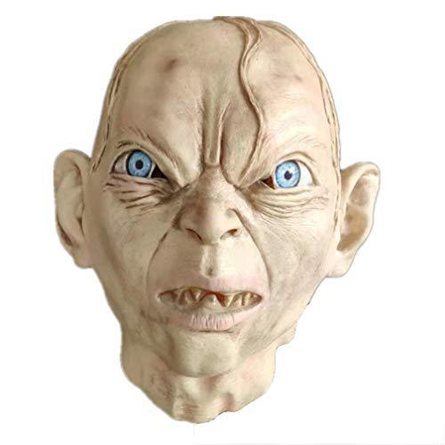 N\A Gollum Latex Maske Halloween Horror, Herr der Ringe Zombie Headgear Devil Props