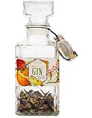 Modern Gourmet Foods, DIY Gin Cadeauset, Bevat Kruiden, Karaf en Cocktail Zeef, Maak Zelf Small Batch Gin (Bevat Geen Alcohol)