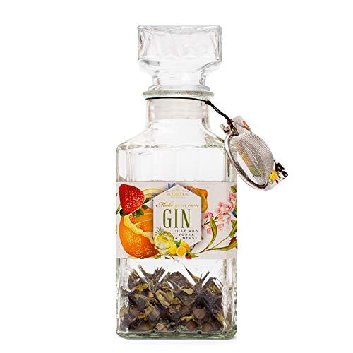 Modern Gourmet Foods - Make Your Own Gin - Gin Selbermachen Geschenkset - Inkl. Kräutermischung, Sieb & Glas-Dekanter