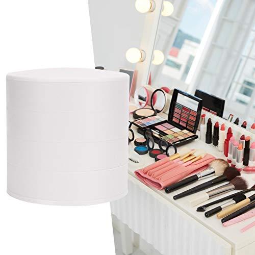 Caja de almacenamiento de collar Joyero multifuncional Home Dresser Desktop(white)