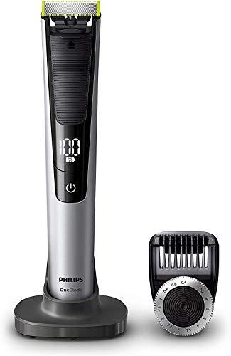 Philips OneBlade Pro QP6520/30 - Recortador de Barba con Peine de Precisión de 14 Longitudes y Base de Carga, Recorta, Perfila y Afeita, Recargable