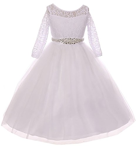 BNY Corner Big Girl Formal Communion Wedding Bridesmaid Party Girl Dress USA White 18 MBK 372