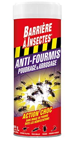 BARRIERE A INSECTES Anti-Fourmis Poudrage & Arrosage Action Choc 500 g, BARFOP500R