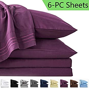 6-Piece Lianlam King Size Bed Sheets Set