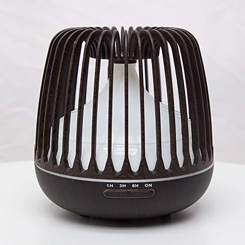 Luchtbevochtiger, huishoudelijke Bird Cage Wood Grain Aromatherapie Machine Ultrasonic Smart Home Appliances Hollow luchtbevochtiger,Dark wood grain