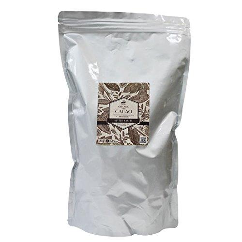 オーガニック ローカカオバター (生) 1kg 遺伝子組み換えでない 有機JAS認証 日本ローフード協会推奨品