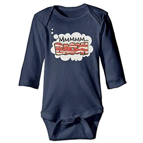 FULIYA Baby Crawler Baby Jersey Bodysuit Long Sleeve Bodysuit Baby,Unisex Toddler Bodysuits Dreaming of Bacon Baby Babysuit Long Sleeve Jumpsuit Sunsuit Outfit Navy 24M